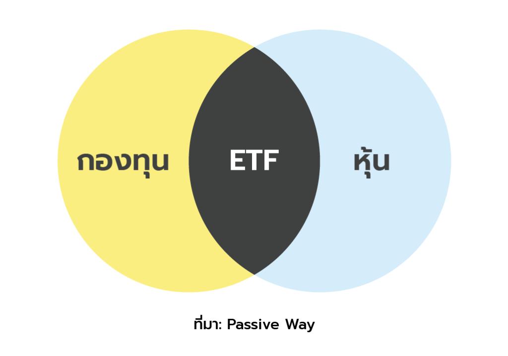 กองทุน ETF คือลูกผสมระหว่างกองทุนรวมและหุ้น